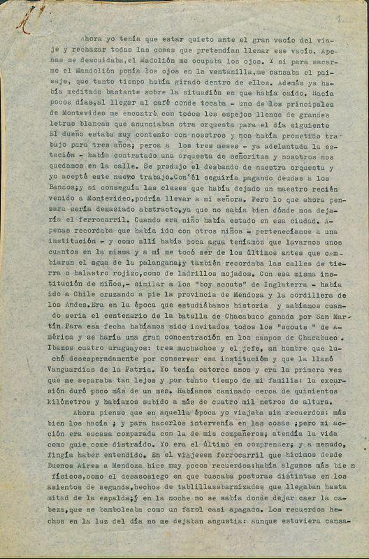 Tierras de la memoria [F6] | Shelfnum : FH-AA1-01-F6 | Page : 1 | Content : facsimile