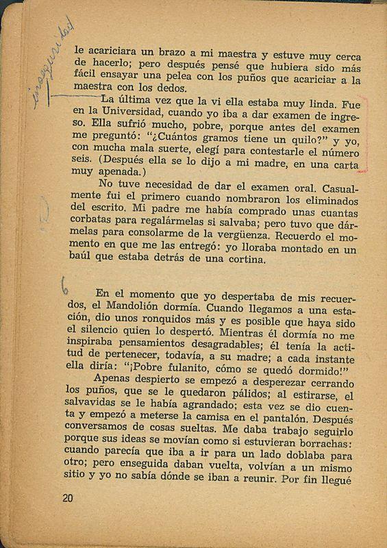 Tierras de la memoria | Shelfnum : FH-AA1-01 | Page : 20 | Content : facsimile