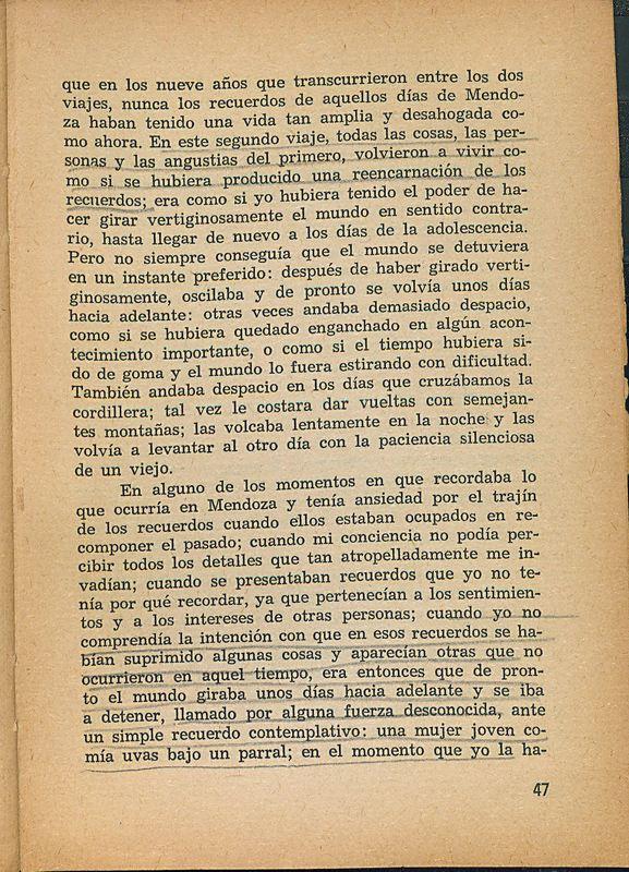 Tierras de la memoria | Shelfnum : FH-AA1-01 | Page : 47 | Content : facsimile