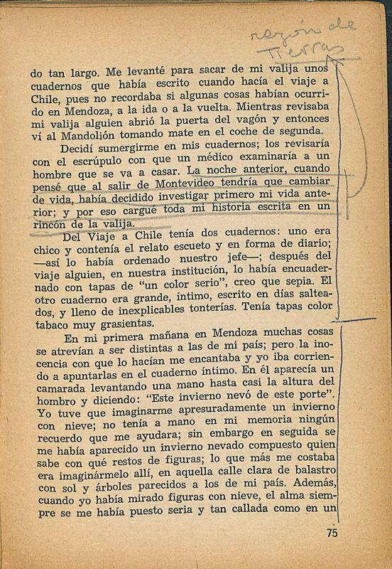 Tierras de la memoria | Shelfnum : FH-AA1-01 | Page : 75 | Content : facsimile
