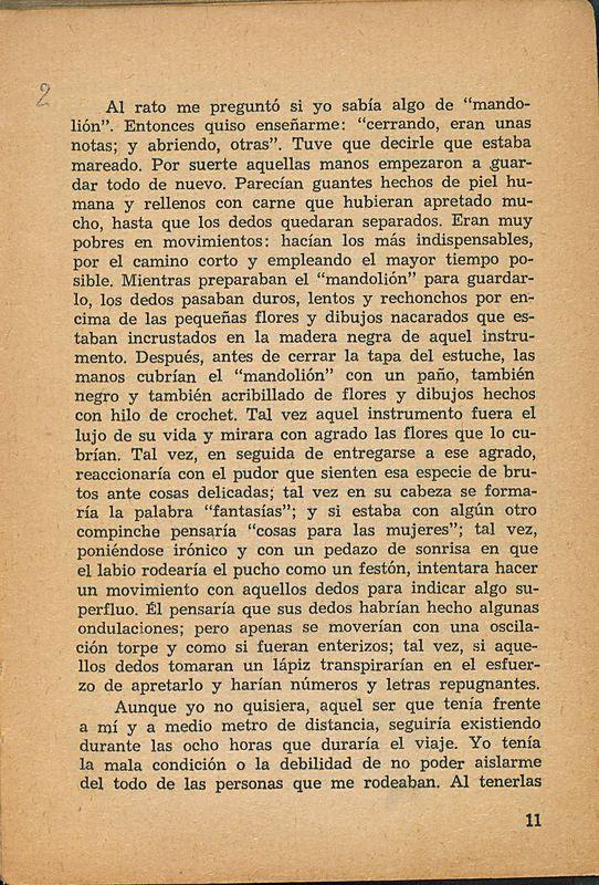 Tierras de la memoria | Shelfnum : FH-AA1-01 | Page : 11 | Content : facsimile