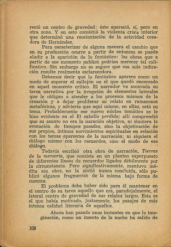 Tierras de la memoria | Shelfnum : FH-AA1-01 | Page : 108 | Content : facsimile