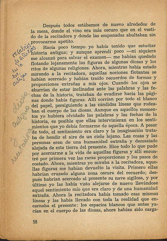 Tierras de la memoria | Shelfnum : FH-AA1-01 | Page : 58 | Content : facsimile