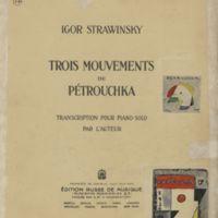 Trois Mouvements de Pétrouchka | Shelfnum : FH-CA-01 | Page : 1 | Content : facsimile