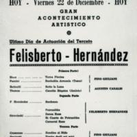 [Ultimo Día de Actuación del Terceto Felisberto Hernández] | Shelfnum : FH-CB-1939-12-22