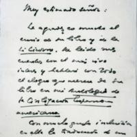 [Muy estimado Señor: Le agradezco mucho el envio de su libro] | Shelfnum : FH-B-1948-02-28 | Page : 1 | Content : facsimile