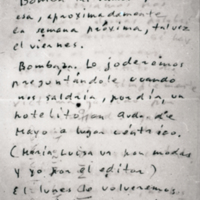 [Montevideo, Julio 12 de 1950. Ola vasco: Bomba 1a. Vamos para esa]   Shelfnum : FH-B-1950-07-12
