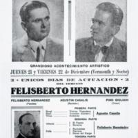 [2 únicos días de actuación del Terceto Felisberto Hernández.] | Shelfnum : FH-CB-1939-12-21 | Content : facsimile