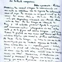 [Mi brillante compañero: Debo agradecerle Paulina Medeiros] | Shelfnum : FH-B-1944-02-02 | Page : 1 | Content : facsimile