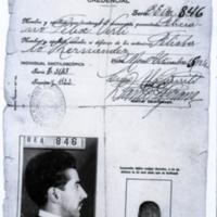 [Credencial n° BEA 846 de Felisberto Hernández] | Shelfnum : FH-DA-01 | Content : facsimile